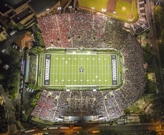 b8c4fac5 More aerial photos from Thursday's game – Vanderbilt University ...