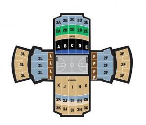Basketball Seating Map